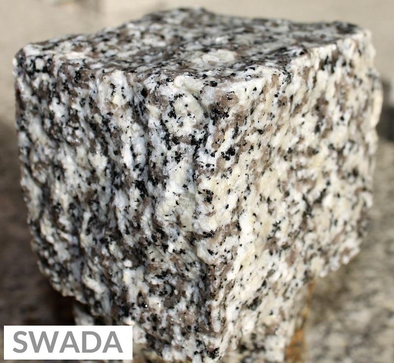 Kostka z granitu szara