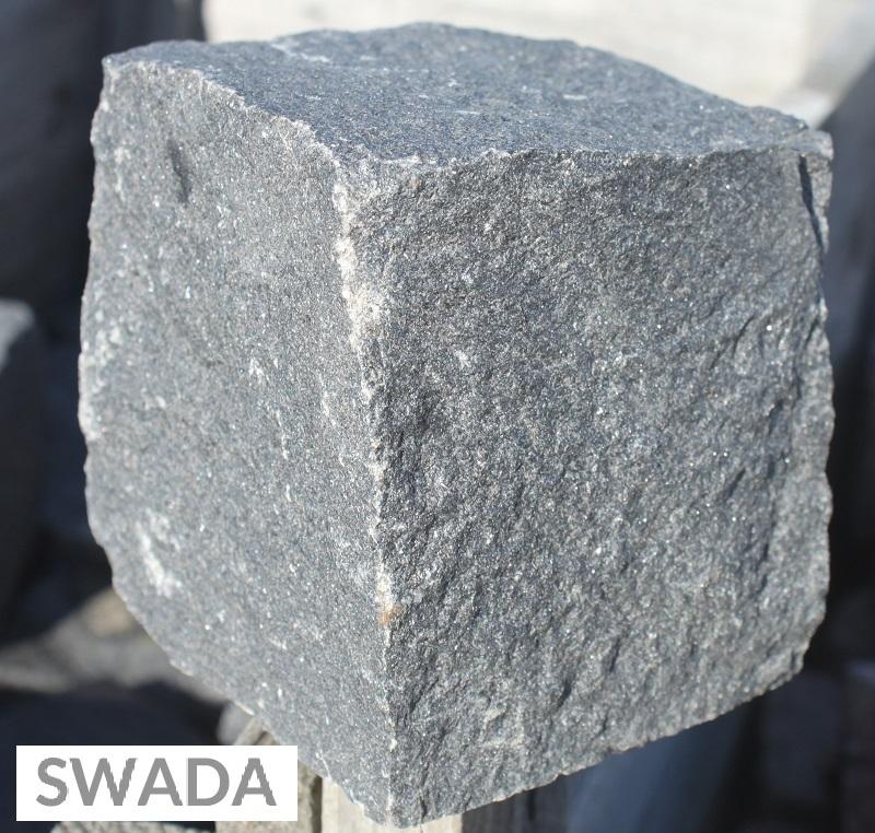Kostka z granitu czarna